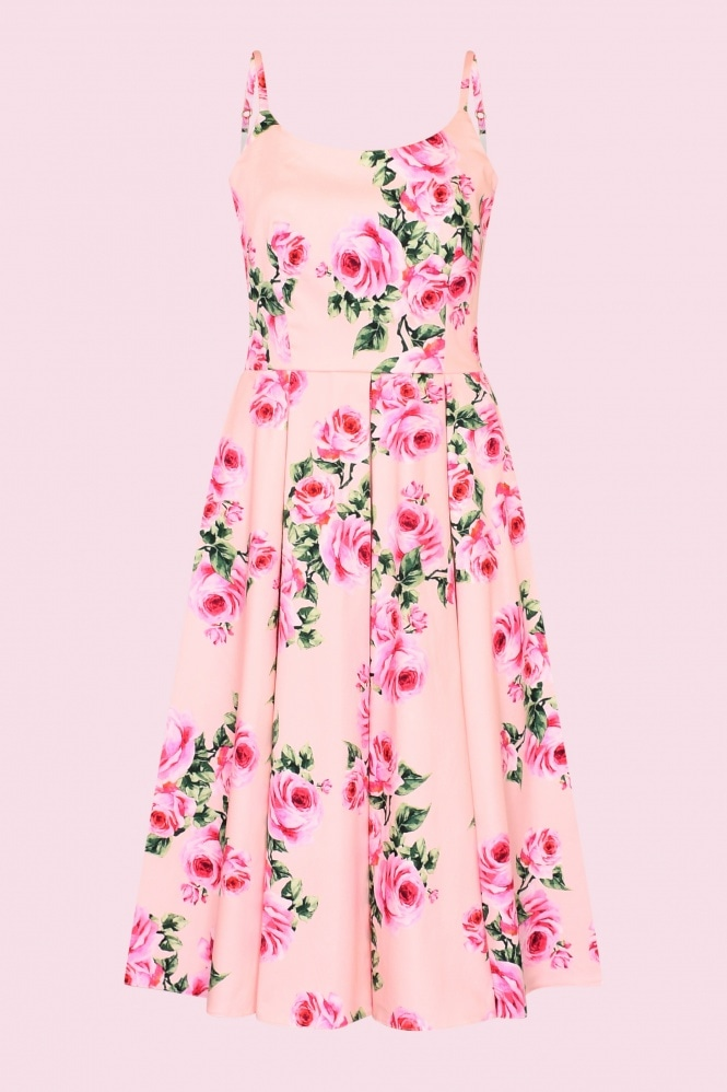 The Pretty Dress Company Priscilla Vintage Rose Midi Dress