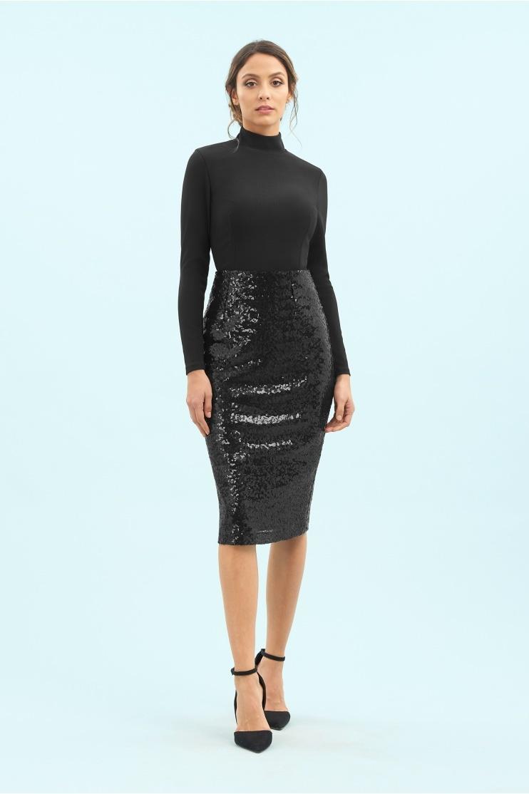 e39a2c004244 Sequin Pencil Skirt · The Pretty Dress Company Sequin Pencil Skirt in Black
