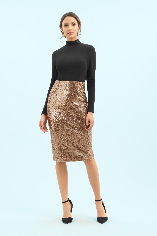 5f1e53c9f29b8f Skirts: Sequin Pencil Skirt