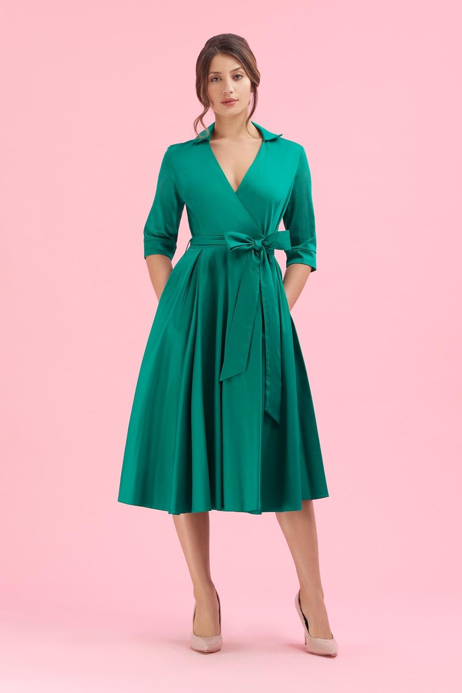 e906cadd8a9d The Pretty Dress Company Taylor Emerald Wrap Dress