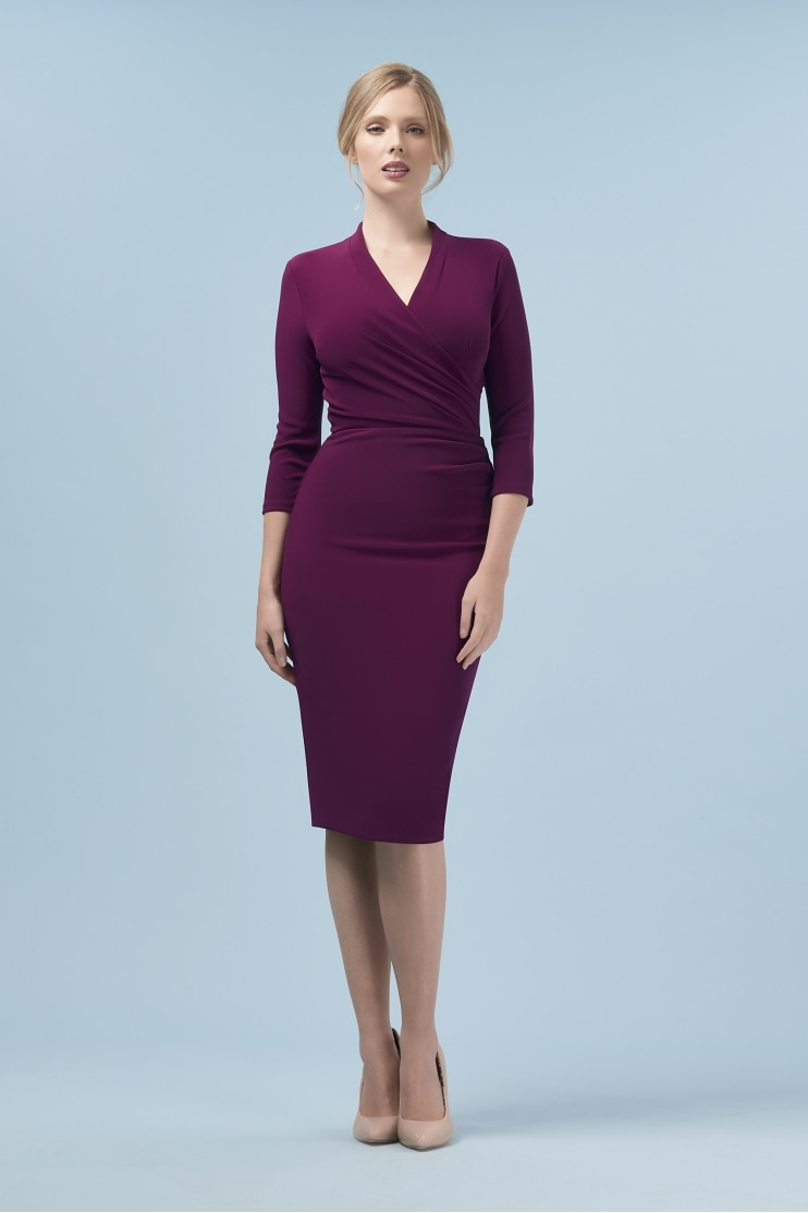 Tegan Wrap Top Pencil Dress