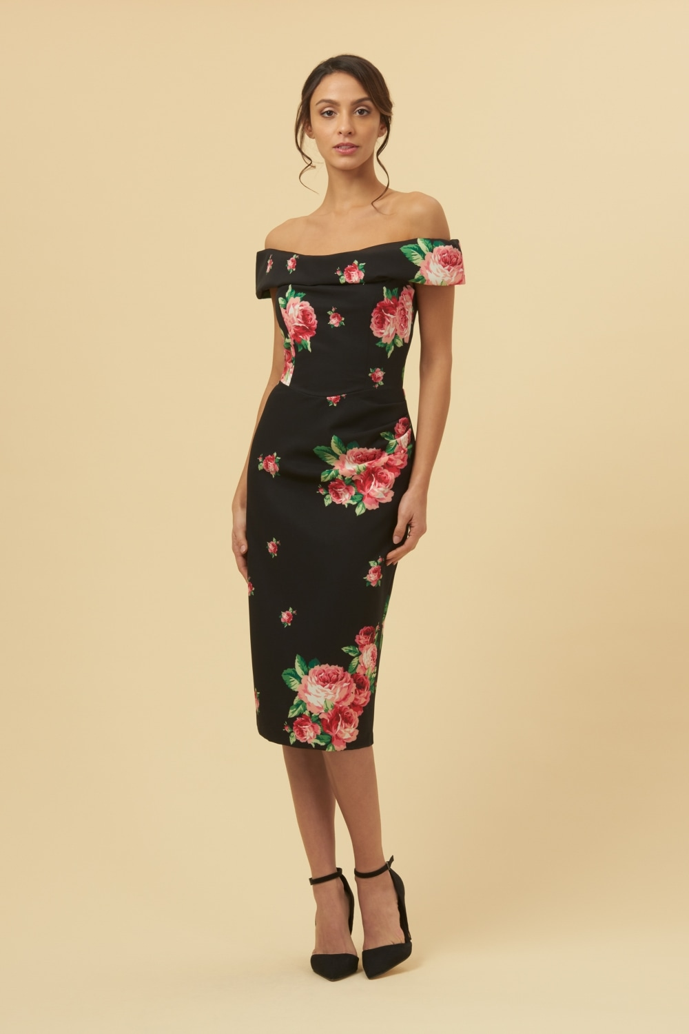 bf48519c27683 The Pretty Dress Company Thea Lamour Floral Pencil Dress - SALE from ...
