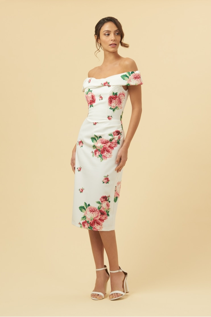 Thea Lamour Floral Pencil Dress