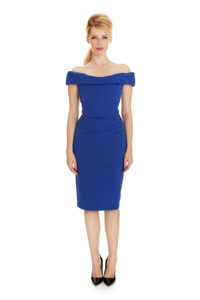 The Pretty Dress Company Thea Pencil Dress in French Crepe