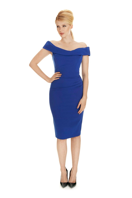 ff985236f0 The Pretty Dress Company Thea Pencil Dress in French Crepe