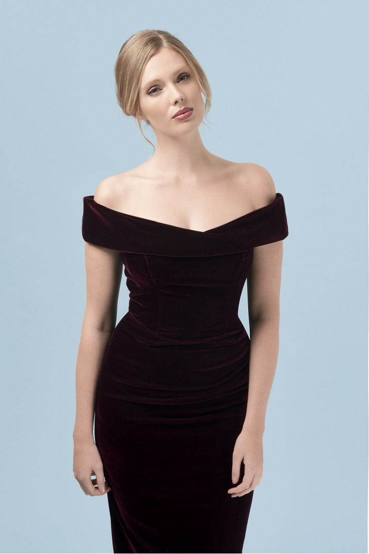 Thea Velvet Pencil Dress