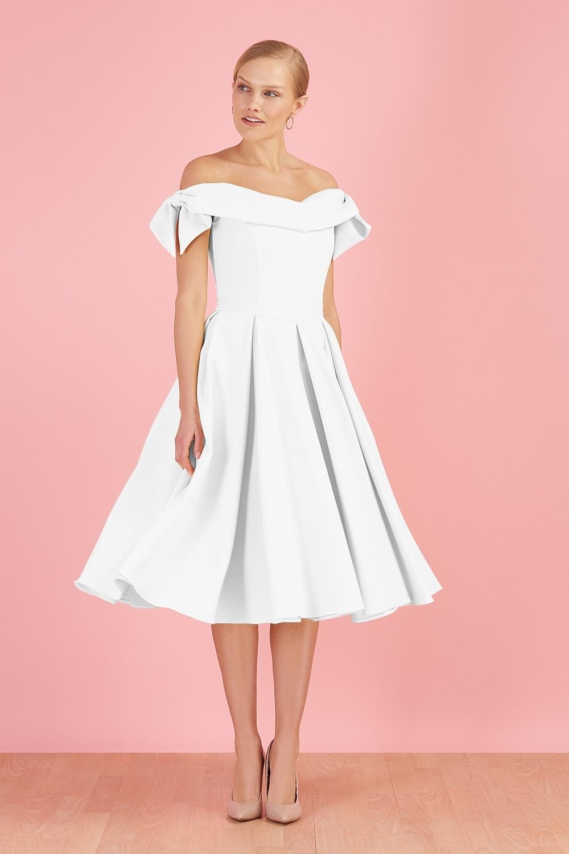 Tilly Off The Shoulder Bow Prom Dress