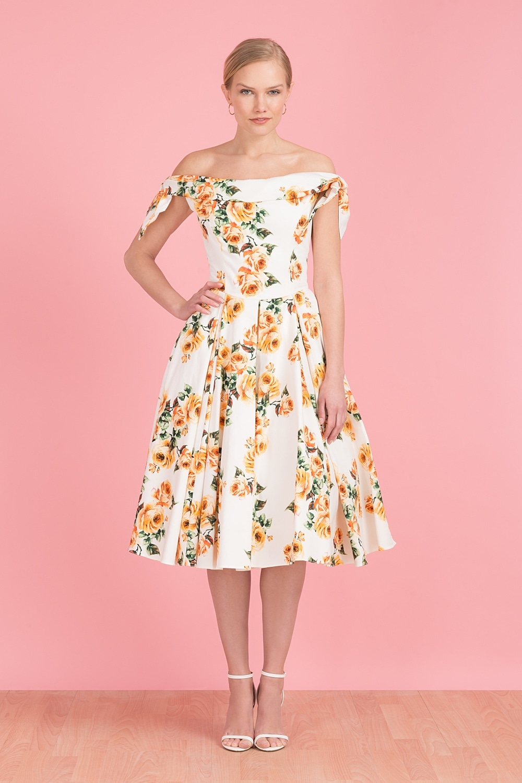 198bde5818 Tilly Vintage Rose Off The Shoulder Prom Dress