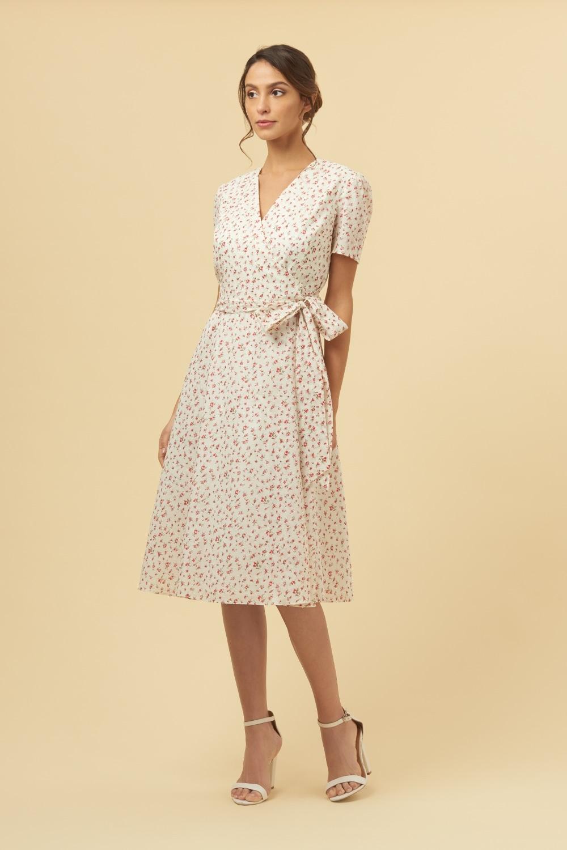 ffc522389e The Pretty Dress Company Vintage Ditsy Floral Wrap Dress